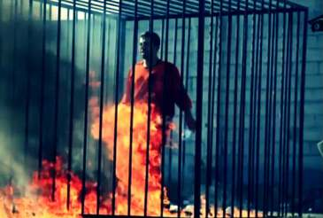 Jordan pilot burnt alive