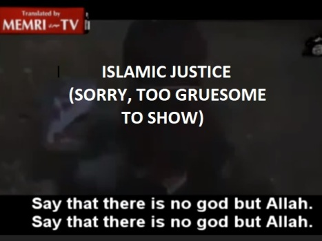 Stoning a woman - too gruesome to show