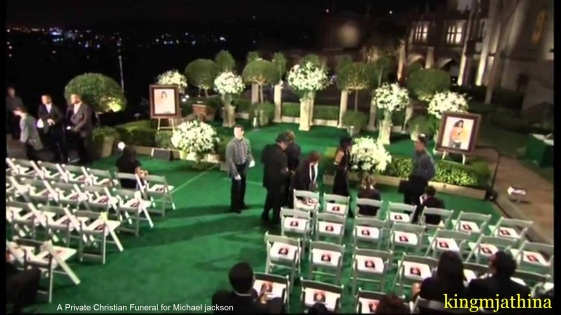 Michael Jackson private funeral