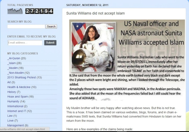 Sunita williams hoax