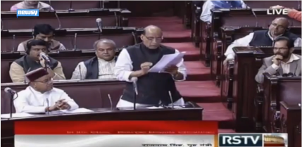 Rajnath speaking in parliament-