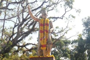 Savarkar statue outside cellular jail in Port Blair