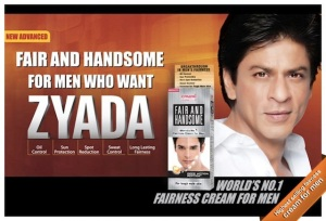 Shah Rukh Khan fair and handsome ad