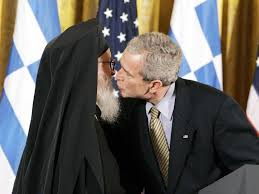 George Bush with Priest