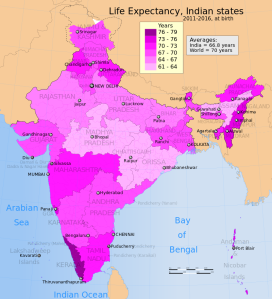 2011-2016_Life_Expectancy_map_for_India_by_states.svg
