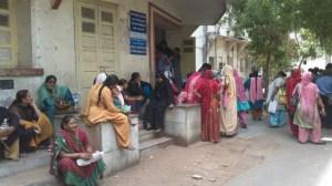 Gujarati women in Vikram Sarabhai hospital