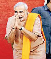 Modi Cowering