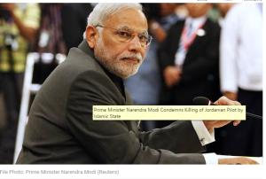 Modi condemns killing of pilot