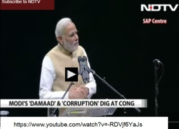 Modi corruption dig at Sonia