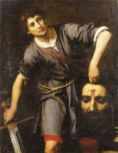 David carrying Goliath head Jpg