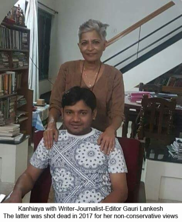 Kanhaiya and Gauri Lankesh