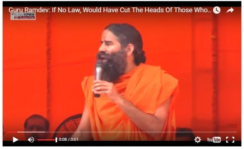 Ramdev threat photo