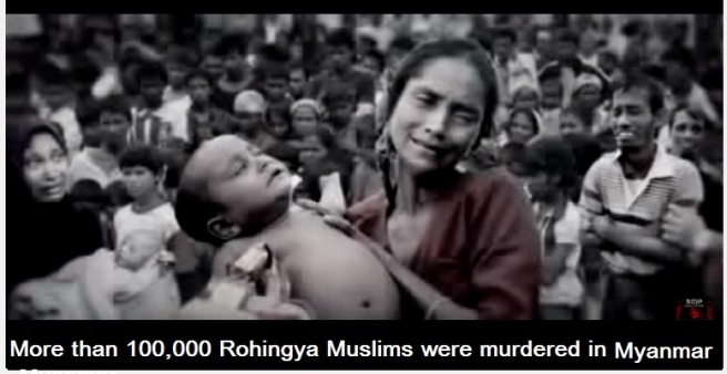 Rohingya muslims 100000 murdered