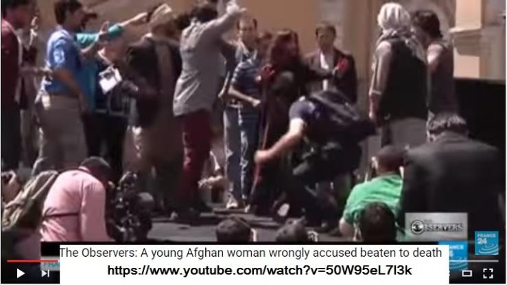 Innocent Woman beaten to death