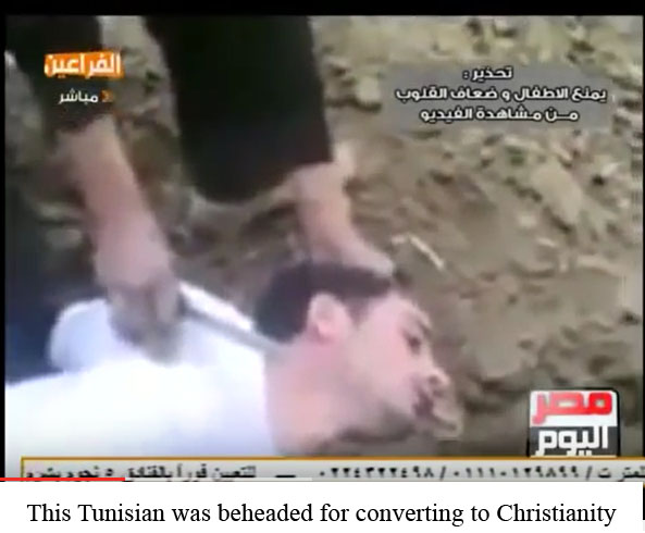 Tunisian beheaded for apostacy
