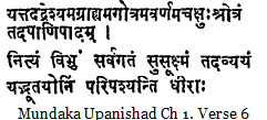 Creation - Mundaka Upanishad Ch 1 Verse 6
