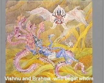 Vishnu and Brahma