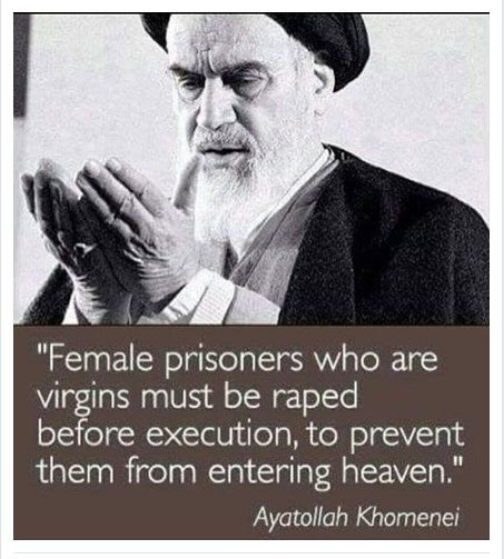 Ayatollah Khomeini saying
