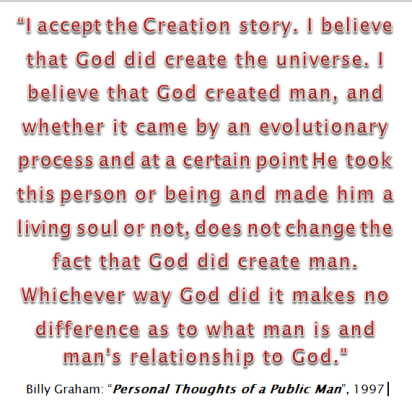 Creationism - Billy Graham