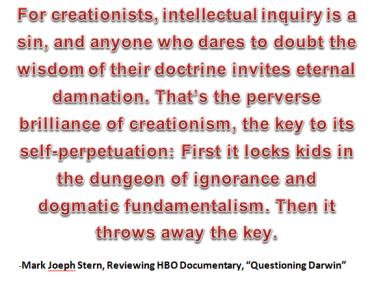 Creationism - Mark Stern on HBO Documentary